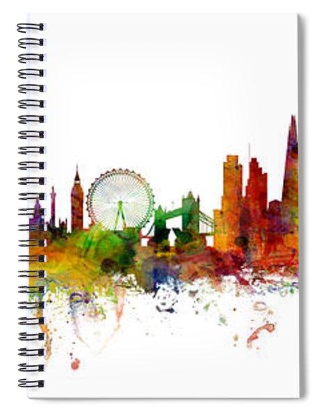 New York, London, Paris Skyline Mashup Spiral Notebook