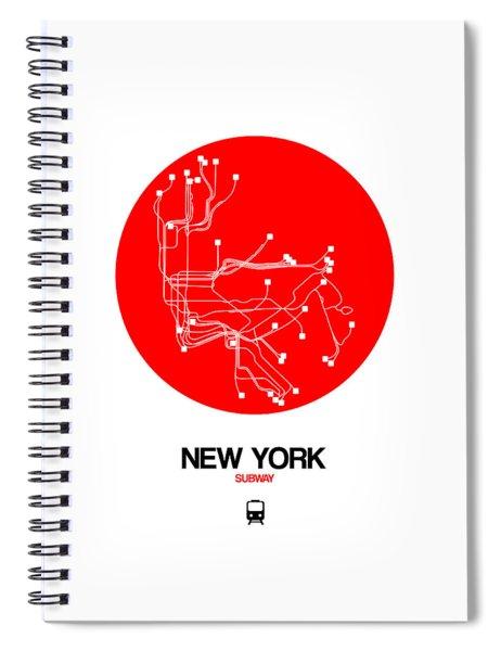 New York Red Subway Map Spiral Notebook