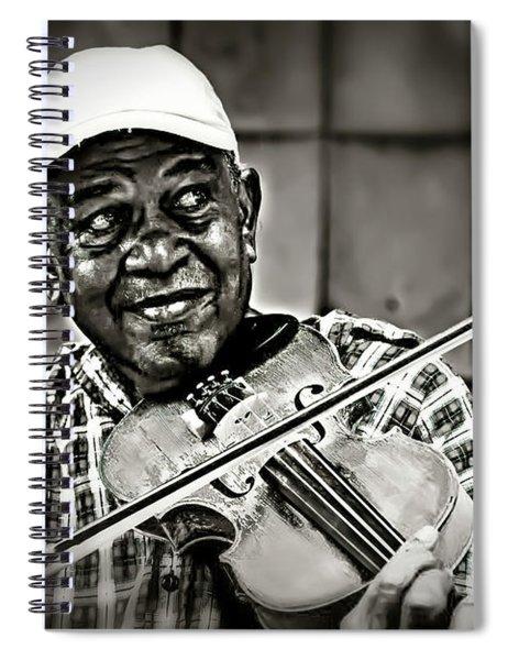 New York Street Fiddler Spiral Notebook