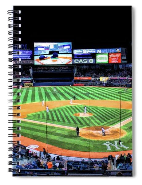 New York Yankee Stadium Spiral Notebook by Christopher Arndt
