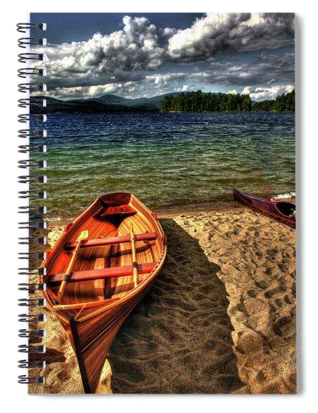 Newfound Lake Rowboat Spiral Notebook