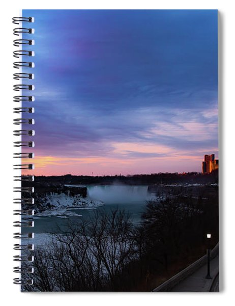 Niagara Falls At Sunrise Spiral Notebook