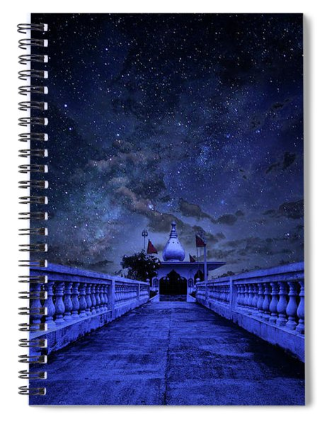 Night Sky Over The Temple Spiral Notebook