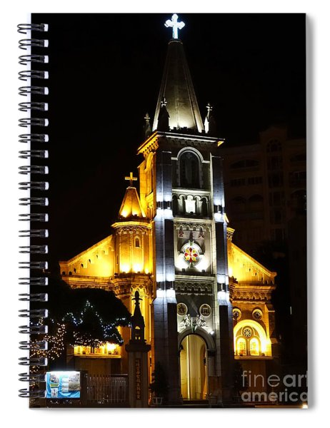Night View Of The Holy Rosary Cathedral Spiral Notebook