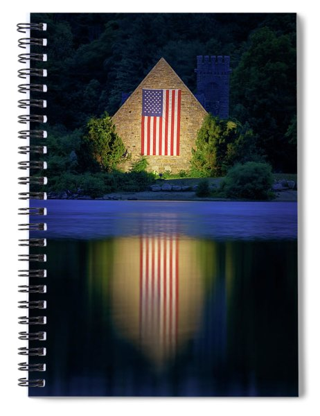 Nightfall At The Old Stone Church Spiral Notebook