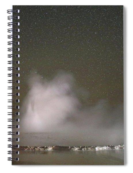 Nighttime At Great Fountain Geyser Spiral Notebook