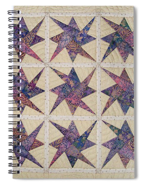 Nine Stars Dipping Their Toes In The Sea Sending Ripples To The Shore Spiral Notebook