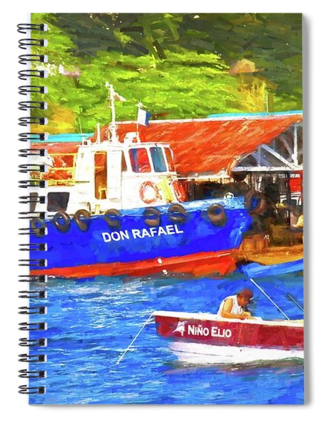 Nino Elio Boatscape Spiral Notebook