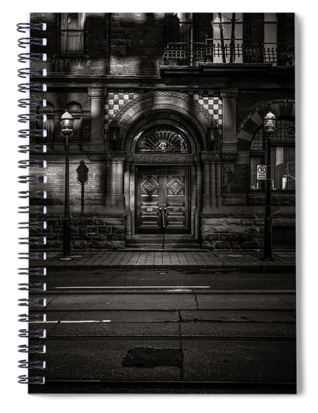 No 107 Wellington St W Toronto Canada Toned Version Spiral Notebook