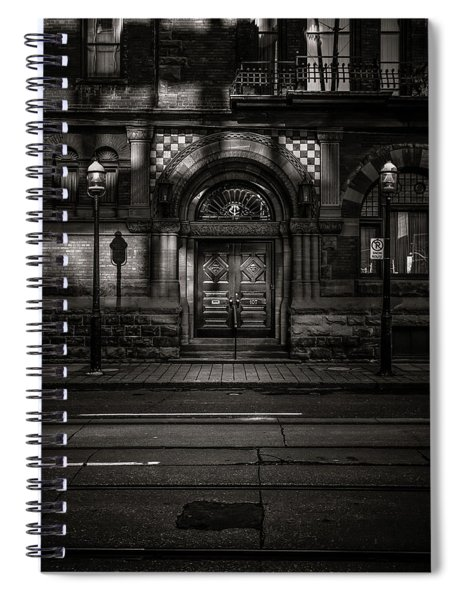 No 107 Wellington St W Toronto Canada Toned Version Spiral Notebook