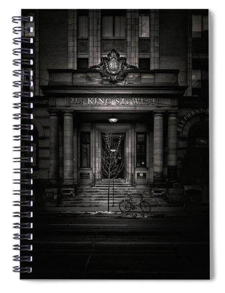 No 212 King Street West Toronto Canada Spiral Notebook