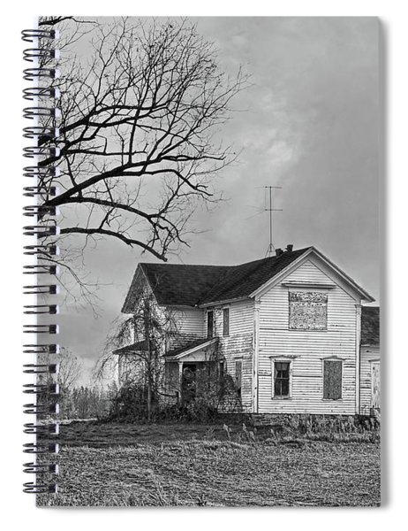 No Trick Or Treating Here B And W Spiral Notebook
