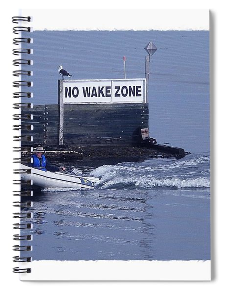 No Wake Zone Spiral Notebook