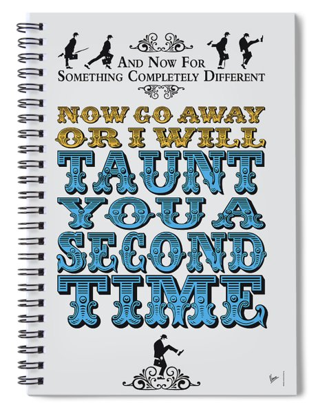 No05 My Silly Quote Poster Spiral Notebook
