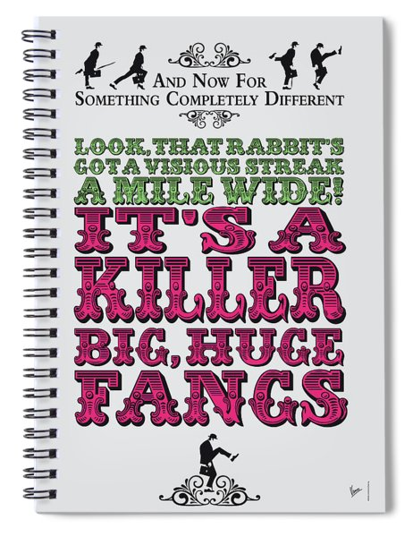 No06 My Silly Quote Poster Spiral Notebook