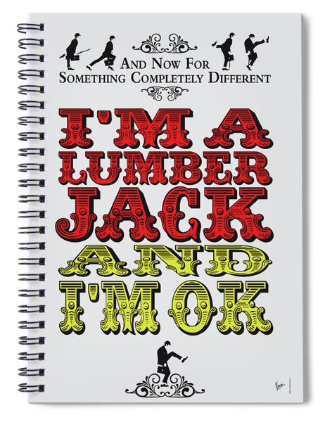 No10 My Silly Quote Poster Spiral Notebook