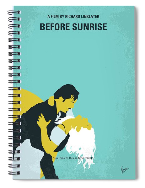 No1011 My Before Sunrise Minimal Movie Poster Spiral Notebook