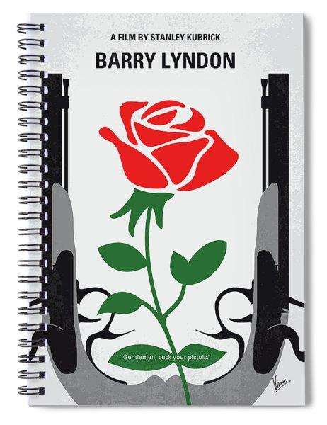 No1019 My Barry Lyndon Minimal Movie Poster Spiral Notebook