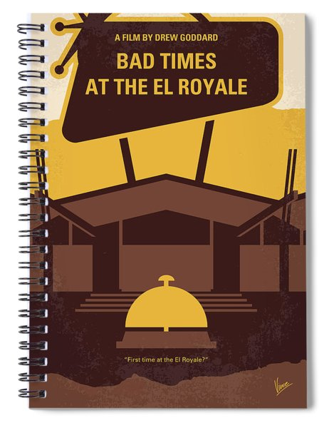 No1044 My Bad Times At The El Royale Minimal Movie Poster Spiral Notebook