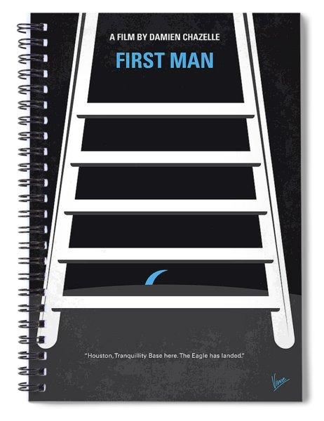 No1045 My First Man Minimal Movie Poster Spiral Notebook