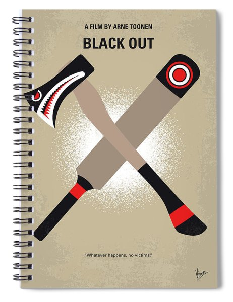 No1064 My Black Out Minimal Movie Poster Spiral Notebook