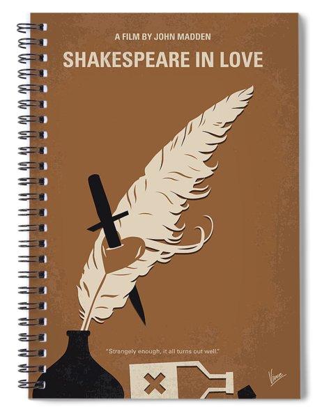 No1071 My Shakespeare In Love Minimal Movie Poster Spiral Notebook