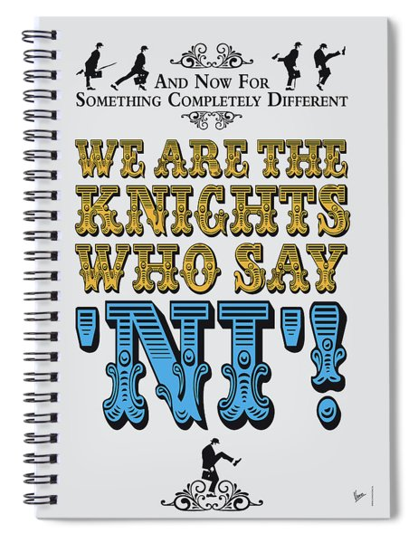 No11 My Silly Quote Poster Spiral Notebook