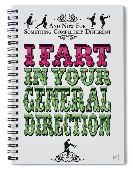 No13 My Silly Quote Poster Spiral Notebook