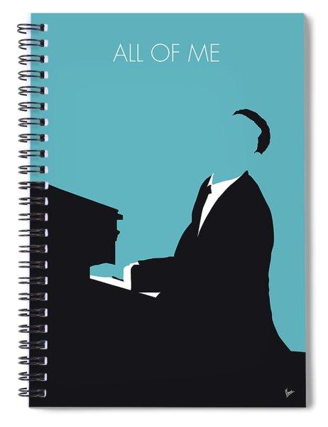 No255 My John Legend Minimal Music Poster Spiral Notebook