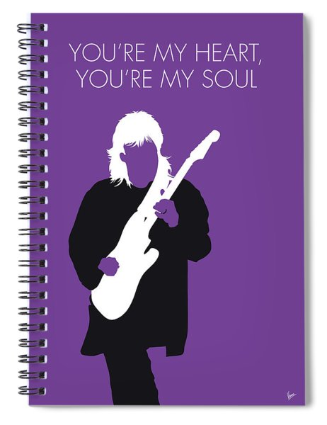No281 My Modern Talking Minimal Music Poster Spiral Notebook