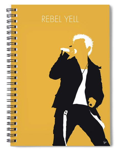 No284 My Billy Idol Minimal Music Poster Spiral Notebook