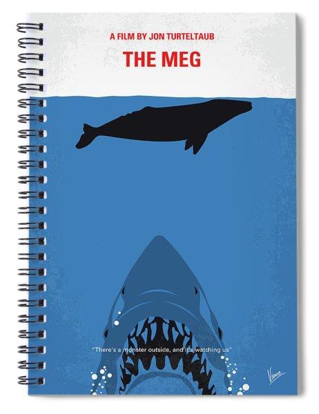 No985 My Meg Minimal Movie Poster Spiral Notebook