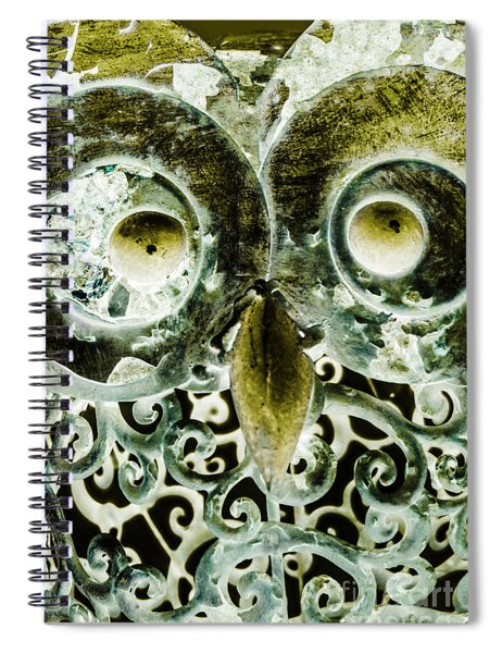 Nocturnal Night Owl Spiral Notebook