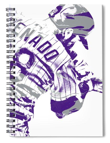 Nolan Arenado Colorado Rockies Pixel Art 1 Spiral Notebook