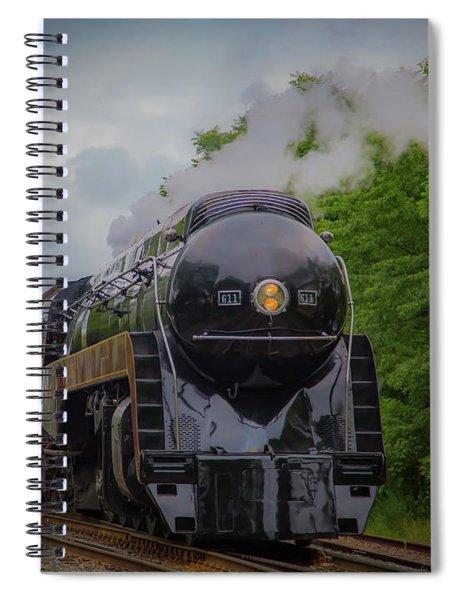 Norfolk And Western 611 Spiral Notebook