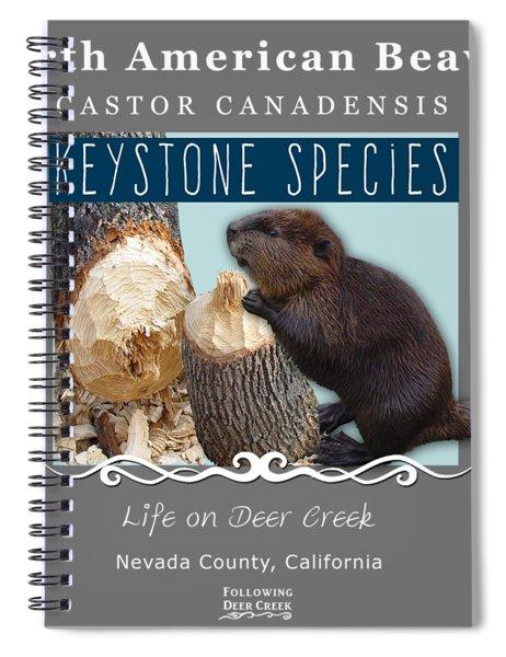 North American Beaver Spiral Notebook