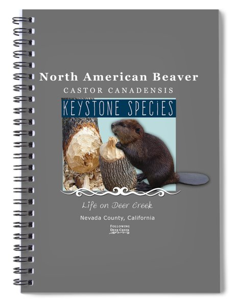 North American Beaver Spiral Notebook