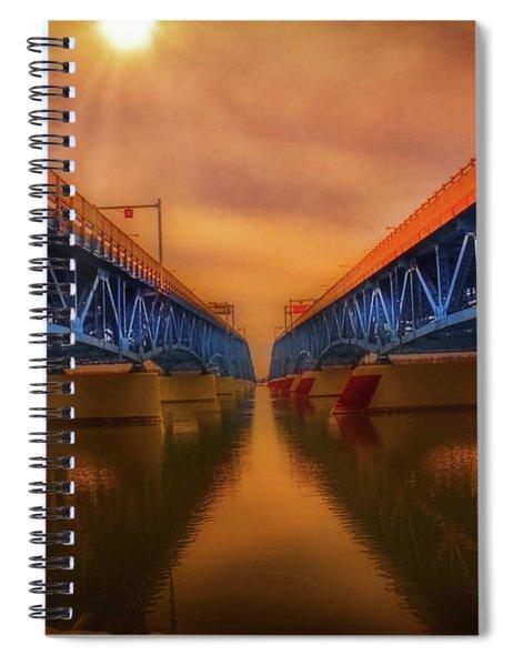 North Grand Island Bridge Spiral Notebook