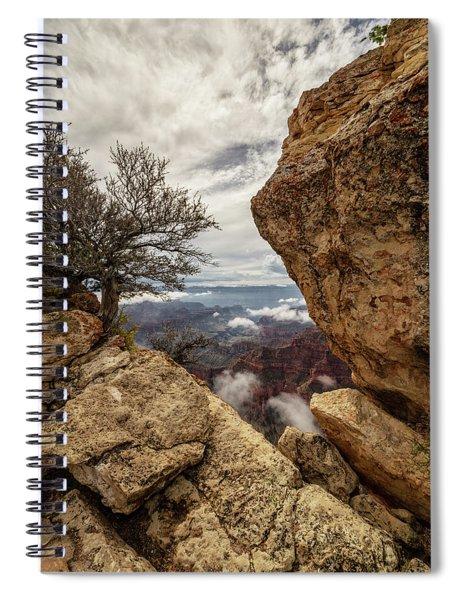 North Rim Fog 1 - Grand Canyon National Park - Arizona Spiral Notebook