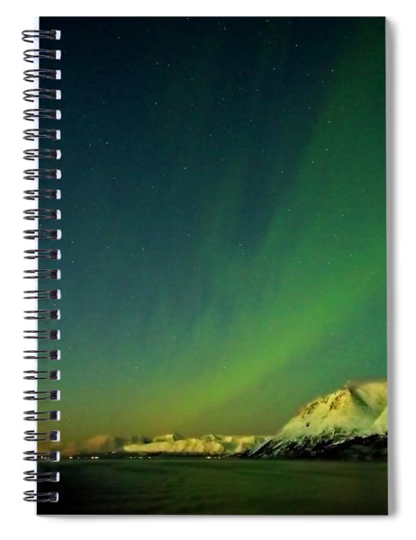Northern Lights In Norway Spiral Notebook