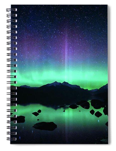 Northern Lights Spiral Notebook