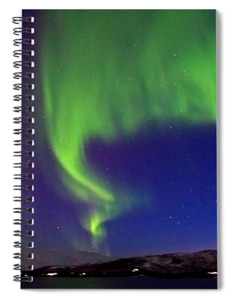 Northern Lights Over Tromso Norway Spiral Notebook