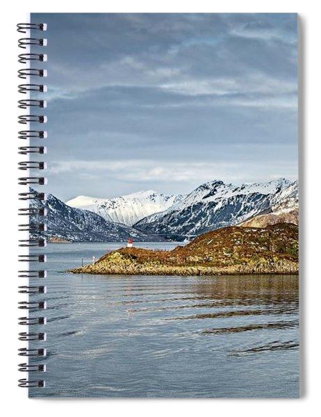 Norwegian Mountain Landscape Lofoten Spiral Notebook