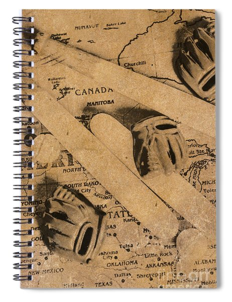 Nostalgic Baseball Spiral Notebook
