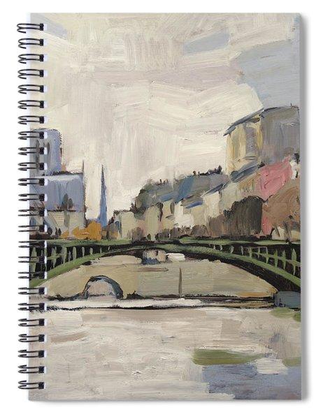 Notre Dame During Winter II Spiral Notebook