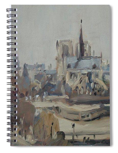 Notre Dame Of Paris Winter IIi Spiral Notebook