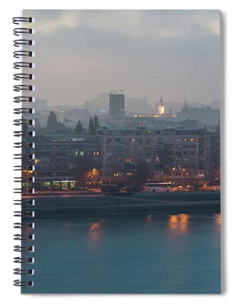 Novi Sad Night Cityscape Spiral Notebook