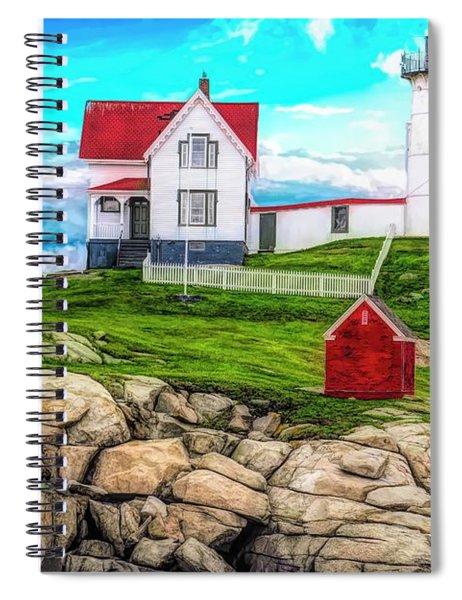 Nubble Light York Maine. Spiral Notebook