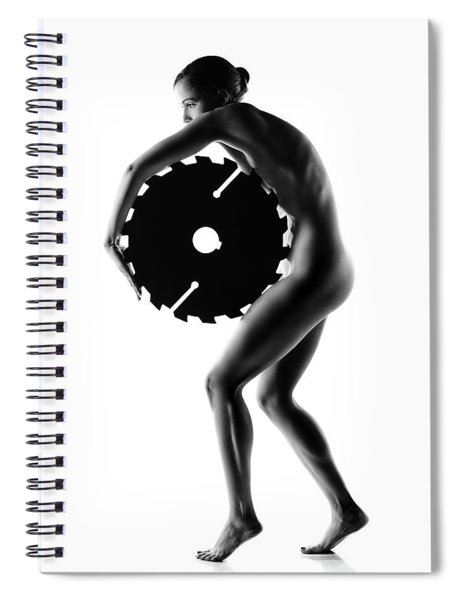 Nude Woman With Saw Blade 1 Spiral Notebook