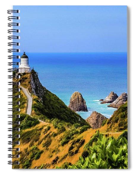 Nugget Point Lighthouse, New Zealand Spiral Notebook